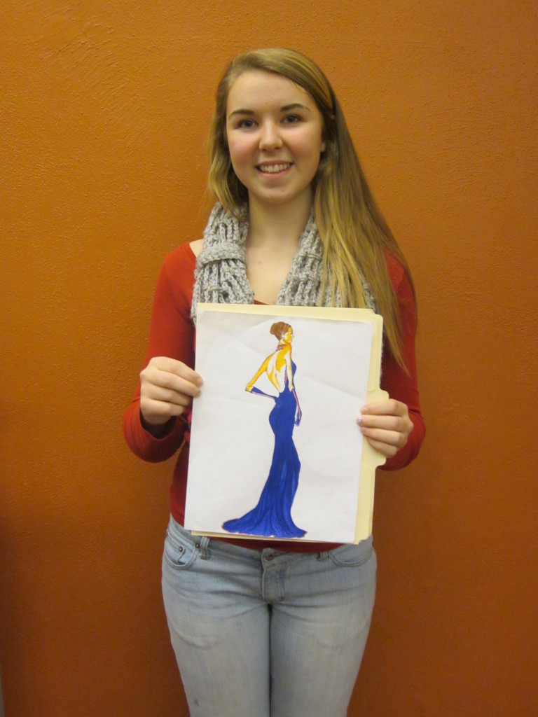 Charlotte Barton, winner for her Female Side Pose Illustration