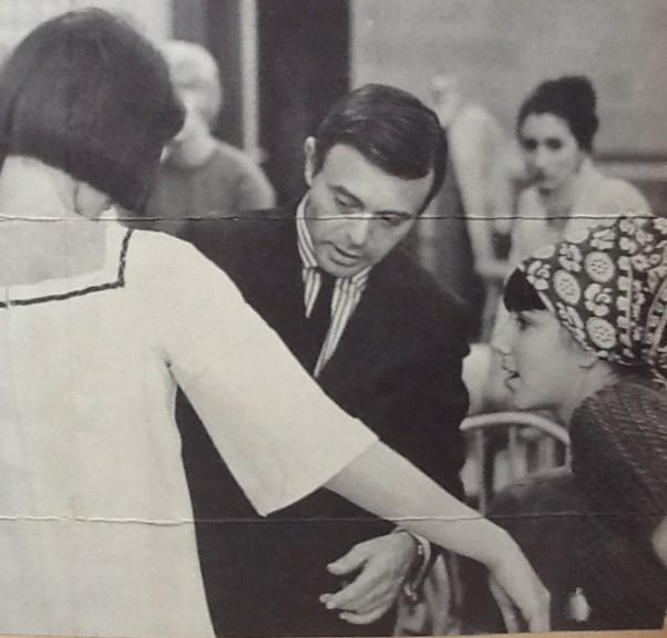 Vicky at Parsons in 1963 with Rudi Gernreich