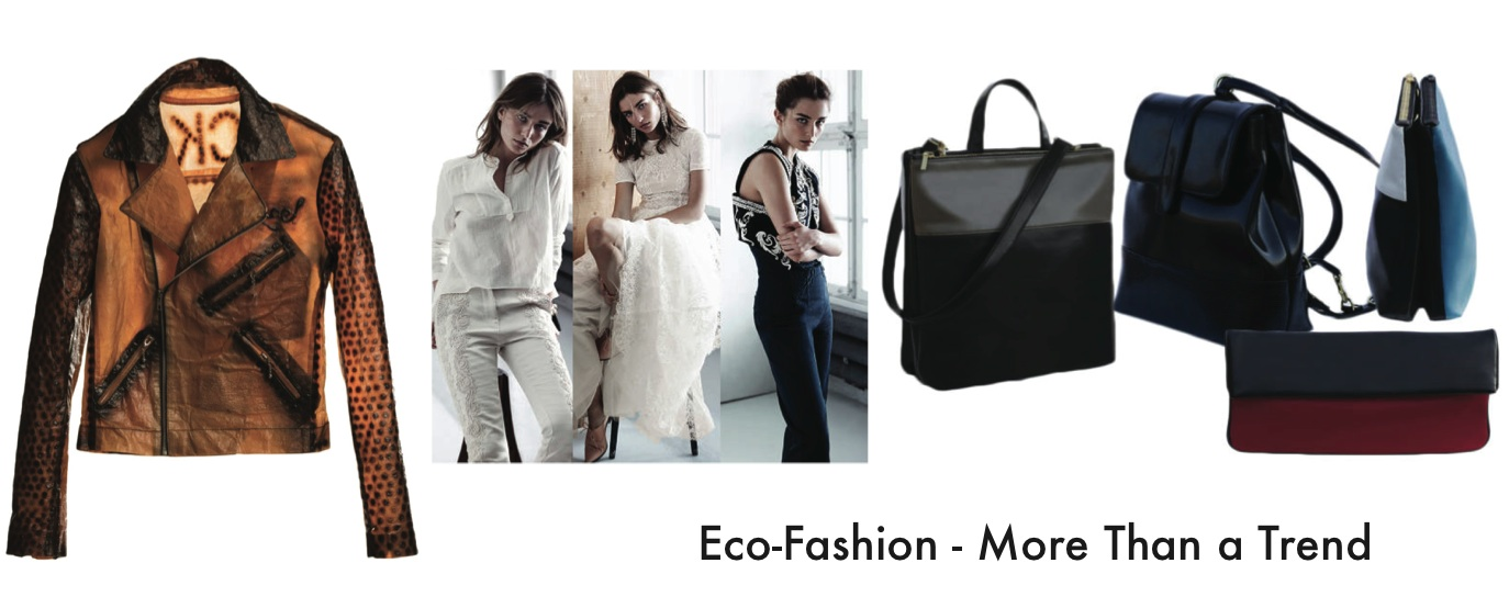 exploring the eco fashion trend how are Sustainable fashion, also known as eco fashion, is part of the larger growing trend of creating more sustainable, environmentally friendly and ethical products.