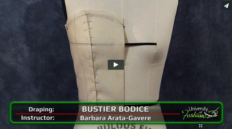 Draping a Bustier Bodice