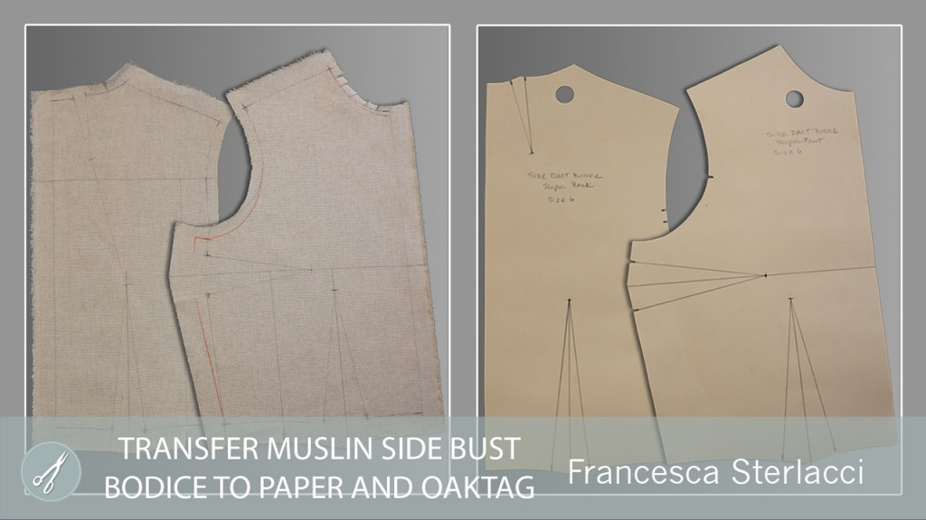 Our newest release - Transfer Muslin Side Bust Bodice to Paper and Oaktag
