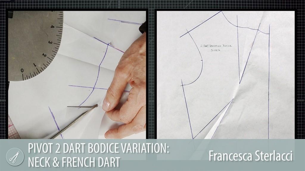 Pivot 2 Dart Bodice Variation Neck & French Dart
