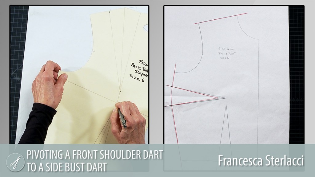 Pivoting a Front Shoulder Dart to a Side Bust Dart