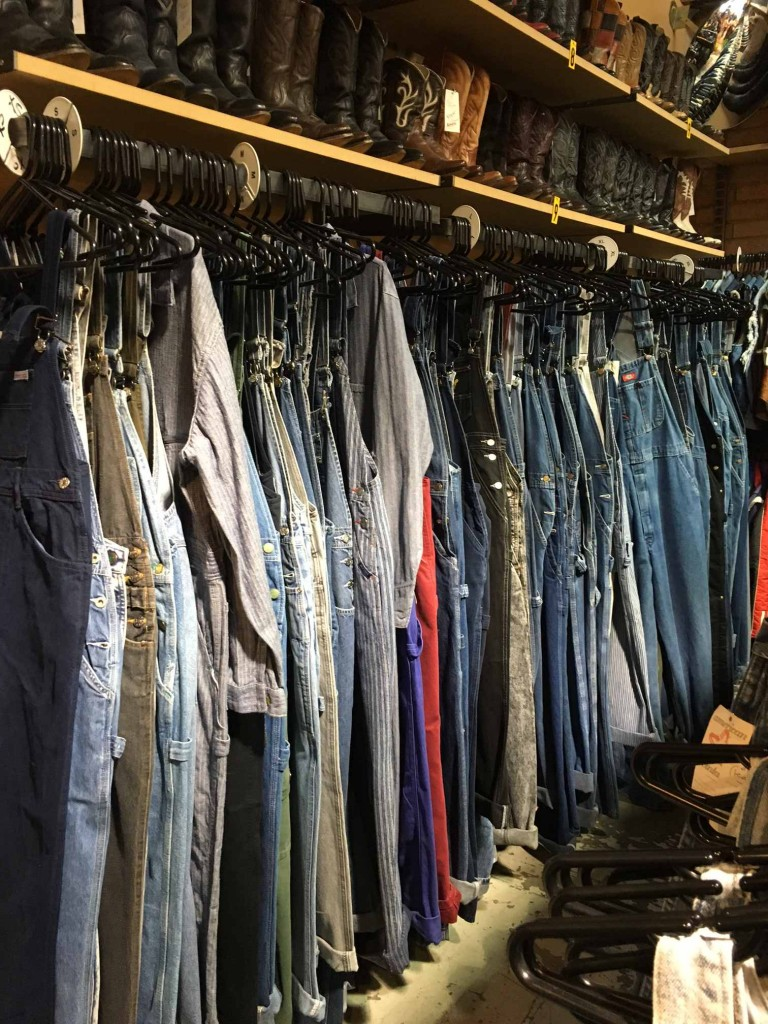 Overall Wall at American Vintage