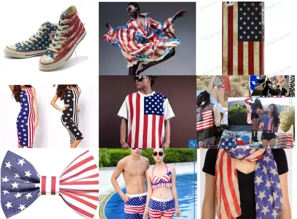 American Flag in Fashion (Courtesy of  Quora.Com)