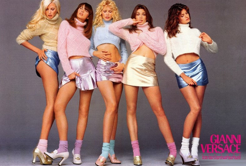 Versace Girls in 1994 (Courtesy of Dazed.com))