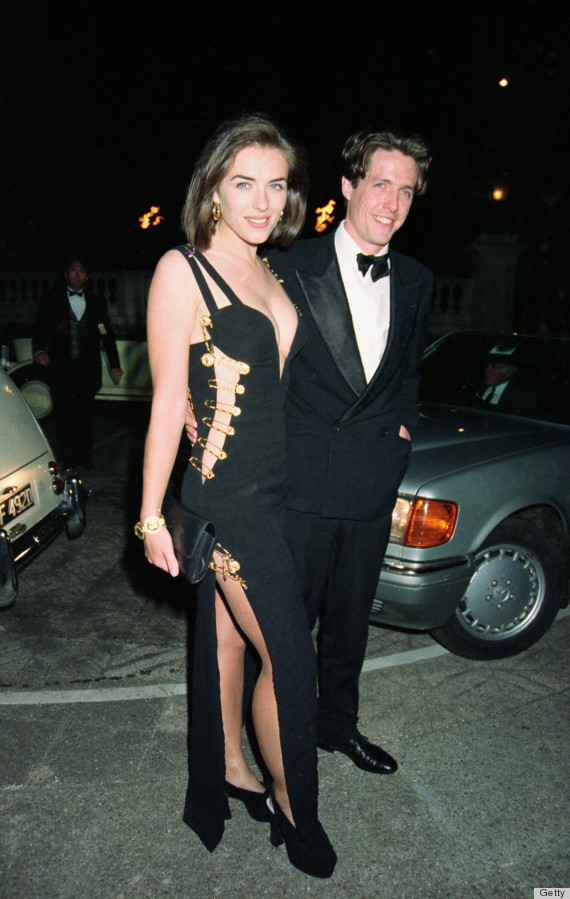 Elizabeth Hurley in the Safety Pin dress in 1994 (Courtesy of Dave Benett/Getty))