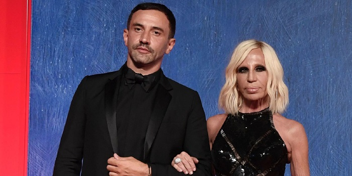 Ricardo Tisci and Donatella Versace  (Courtesy of Harper's Bazaar Singapore)