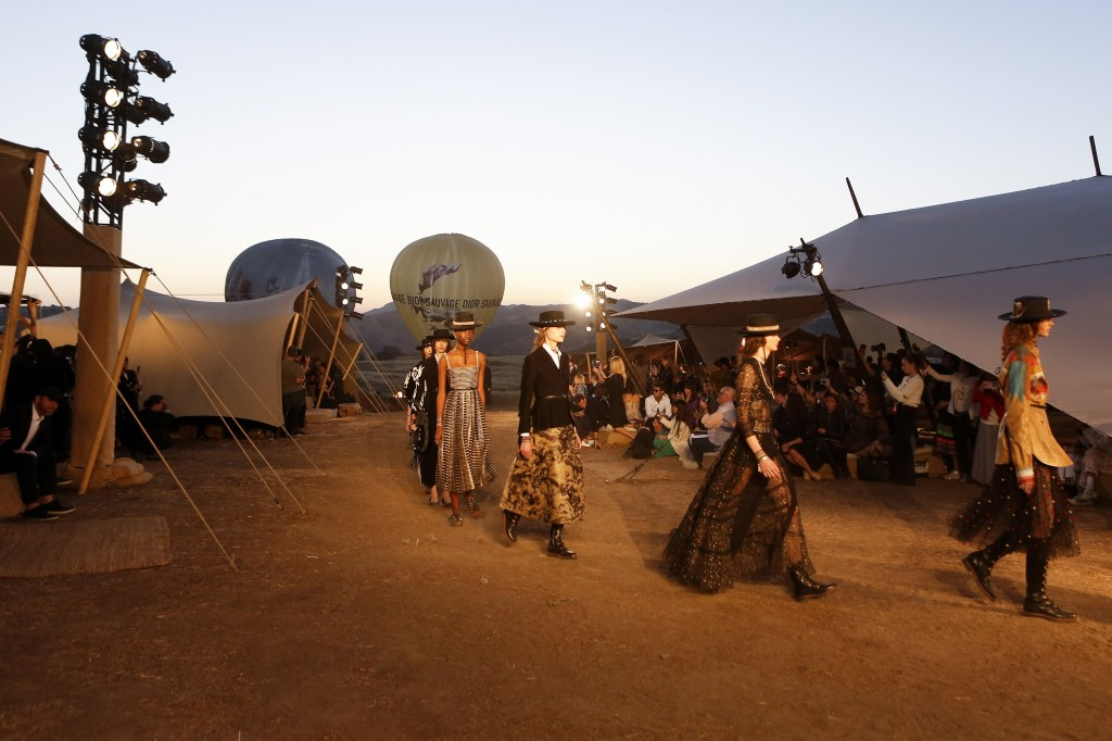 Christian Dior Show held in Santa Monica Mountains (Courtesy of Vogue.com)