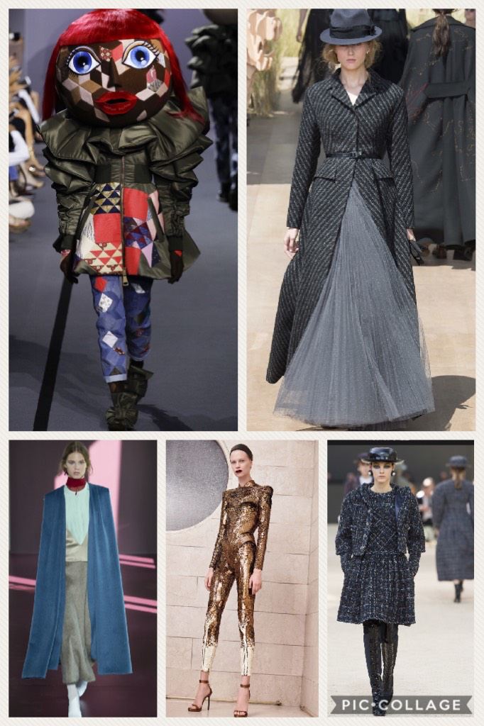 Top left, clockwise, Viktor & Rolf, Christian Dior, Chanel, Atelier Versace, and Valentino (All photos courtesy of Vogue.com)
