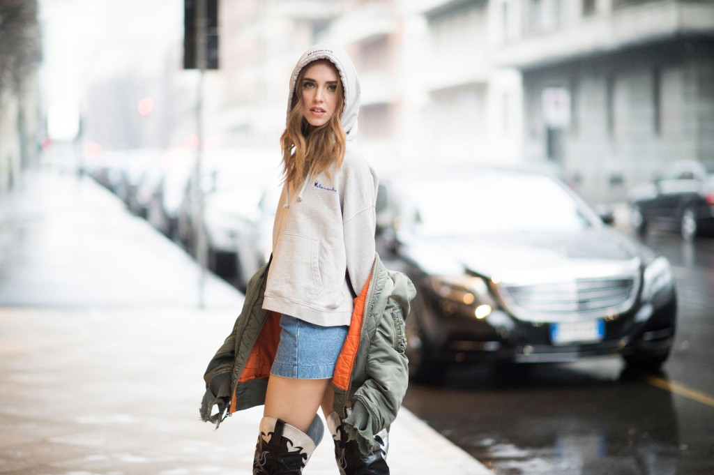 Chiara Ferragni in Vetements  (Courtesy of TheBlondSalad.com)