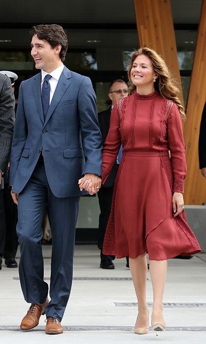 Sophie Gregiore Trudeau in Canadian designer Tanya Taylor, 2016 (Photo courtesy of Getty Images)