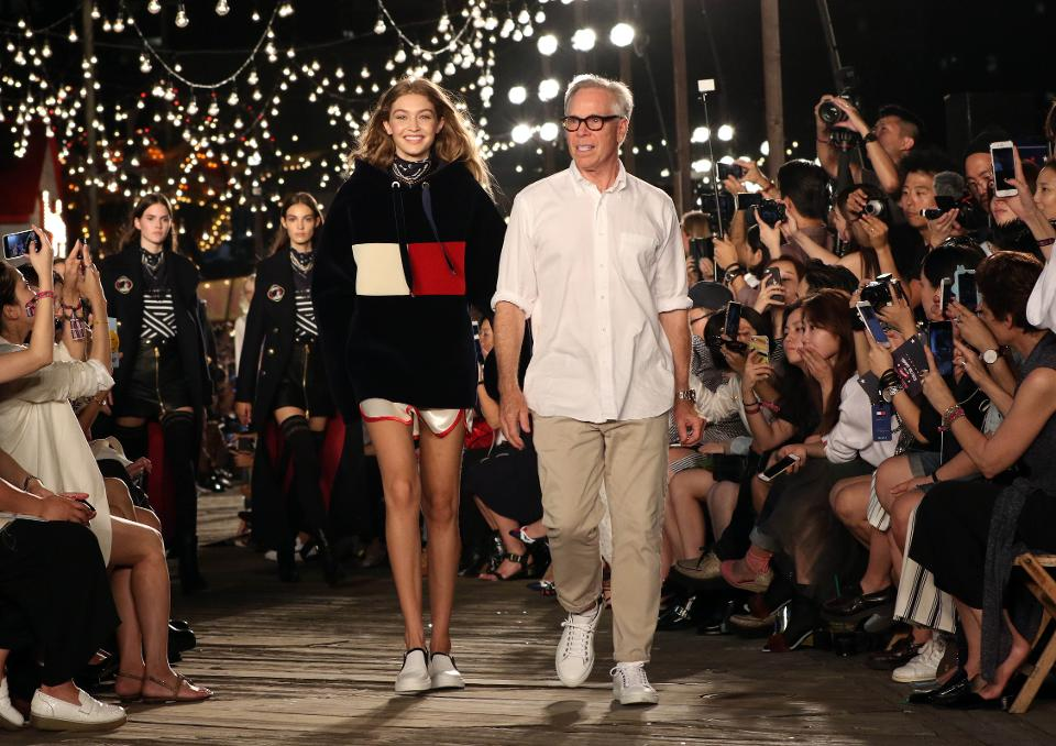 Tommy Hilfiger and Gigi Hadid at the Fall 2016 show (Image courtesy of Forbes.com)