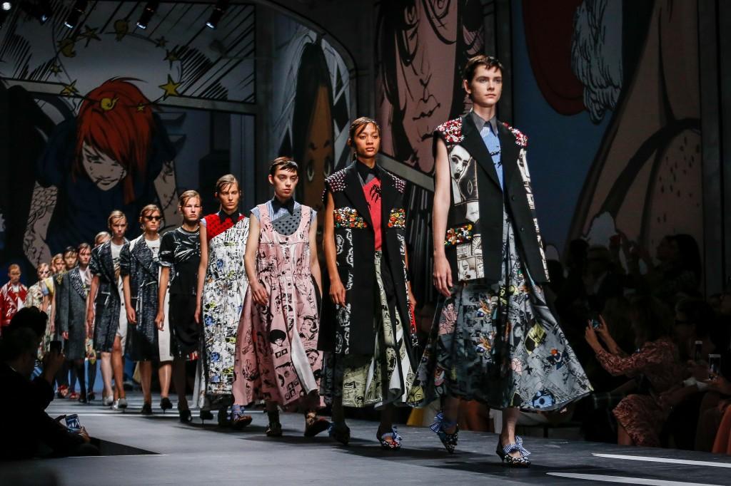 Prada Spring 2018 Show (Photo courtesy of Vogue.com)