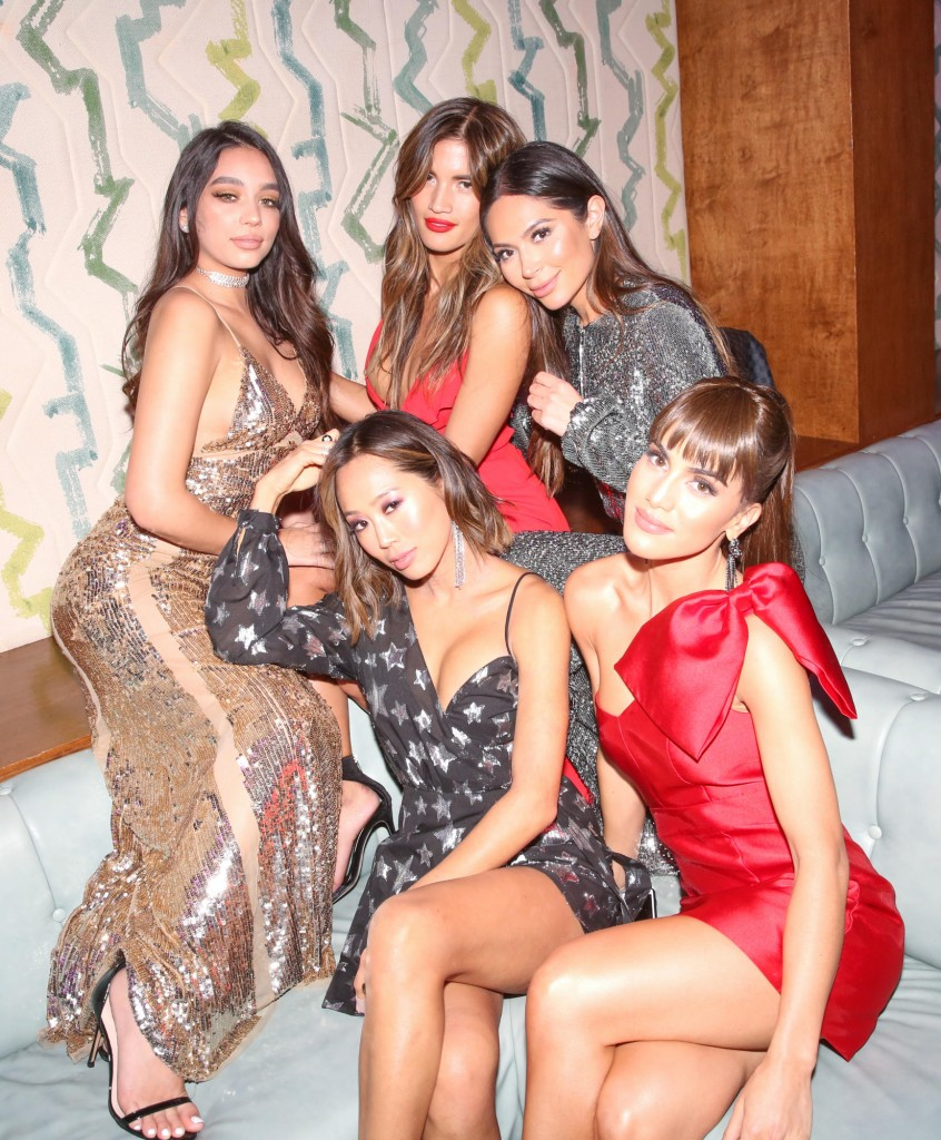 Janice Joostema, Rocky Barnes, Marianna Hewitt, Camila Coelho and Aimee Song. (Photo Courtesy of Revolve)