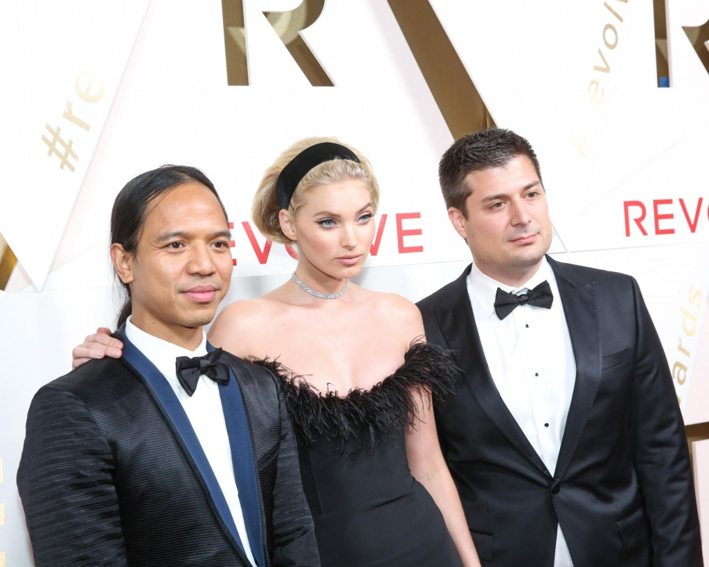 Michael Mente, Elsa Hosk and Mike Karanikolas (Photo courtesy of Revolve)
