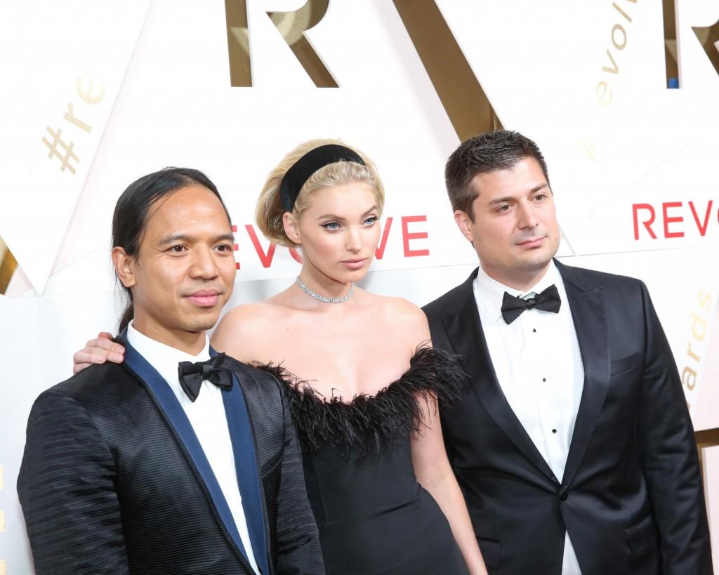 Michael Mente, Elsa Hosk and Mike Karanikolas (Photo courtesy of Revolve)