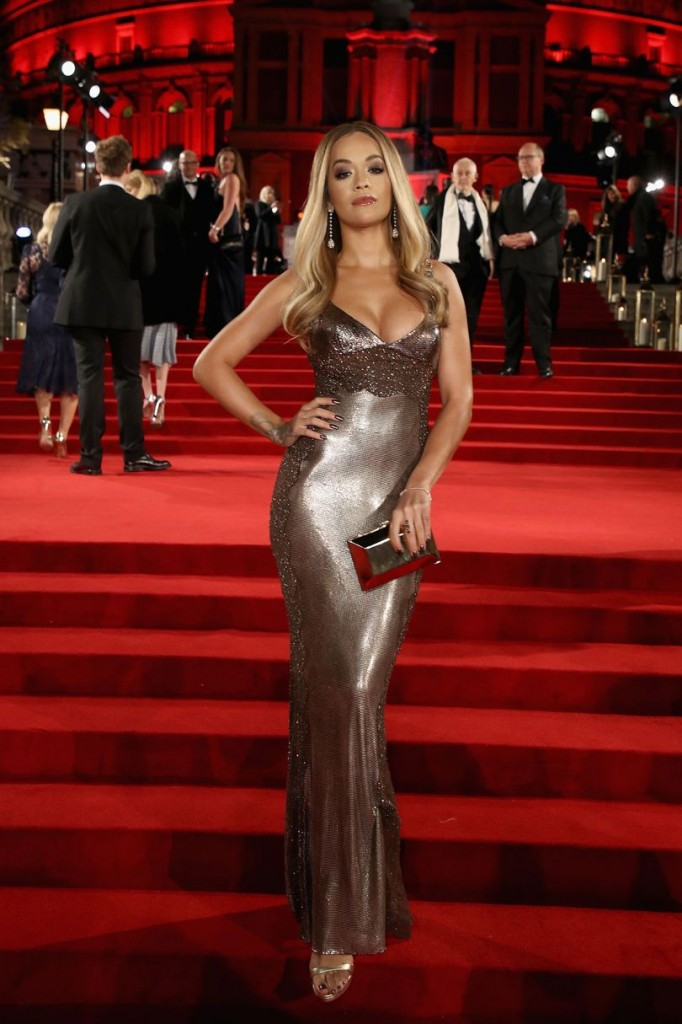 Rita Ora in Versace (Photo courtesy of Getty Images)