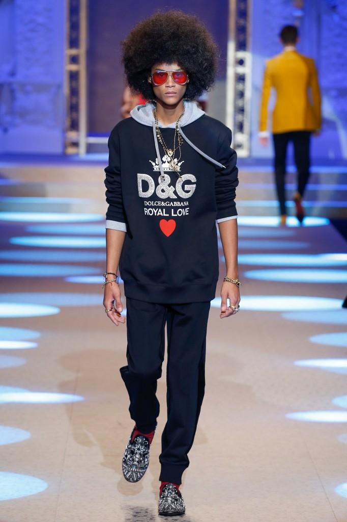 Dolce & Gabbana Men's 2018 Fall Collection (Photo Courtesy of Vogue.com)