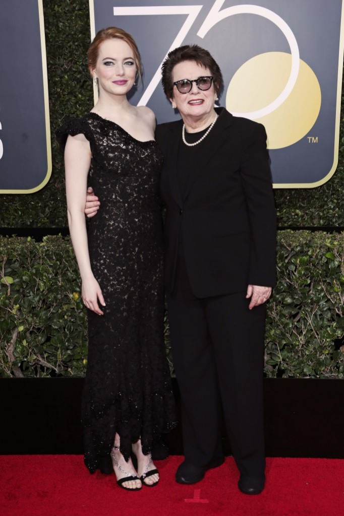 Emma Stone in Louis Vuitton andBillie Jean King