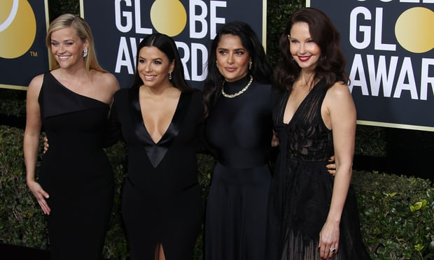 From left Reese Witherspoon, Eva Longoria, Salma Hayek and Ashley Judd arrive at the awards