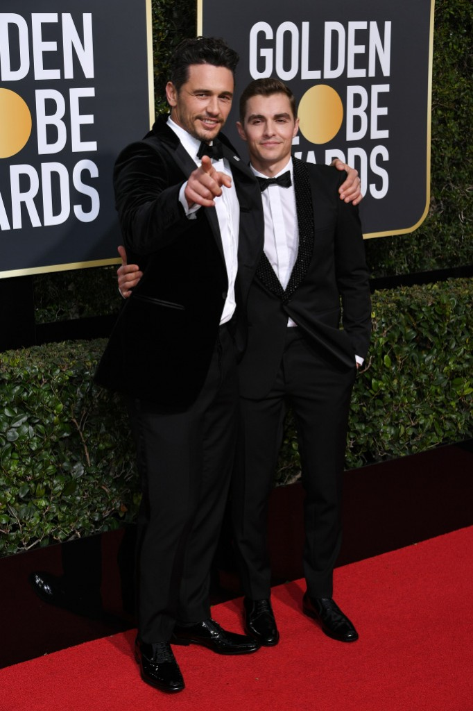 James Franco in Salvatore Ferragamo and Dave Franco in Saint Laurent