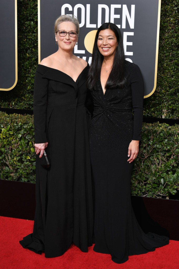 Meryl Streep in custom Vera Wang and Ai Jen Poo