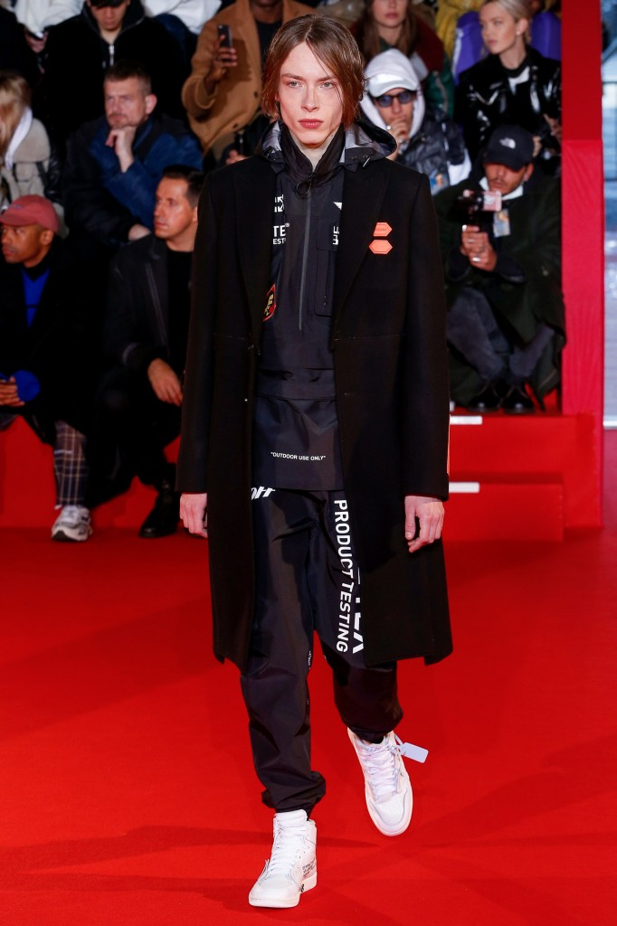 Off-White Men's 2018 Fall Collection (Photo Courtesy of Vogue.com)