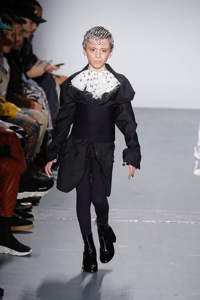 b18f53ee3a Drag kid Desmond modeling in Gypsy Sport s fall 2018 Collection (Photo  courtesy of Vogue.