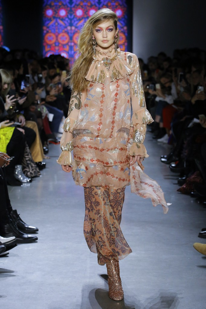Anna Sui's fall 2018 Collection (Photo courtesy of Vogue.com)