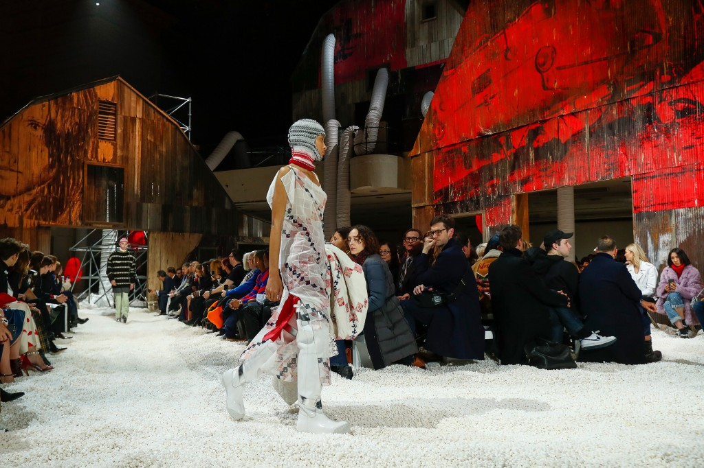 The dramatic runway at Calvin Klein  (Photo courtesy of Vogue.com)