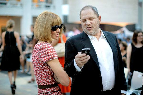 Anna Wintour and Harvey Weinstein (Photo courtesy of  The New York Times)