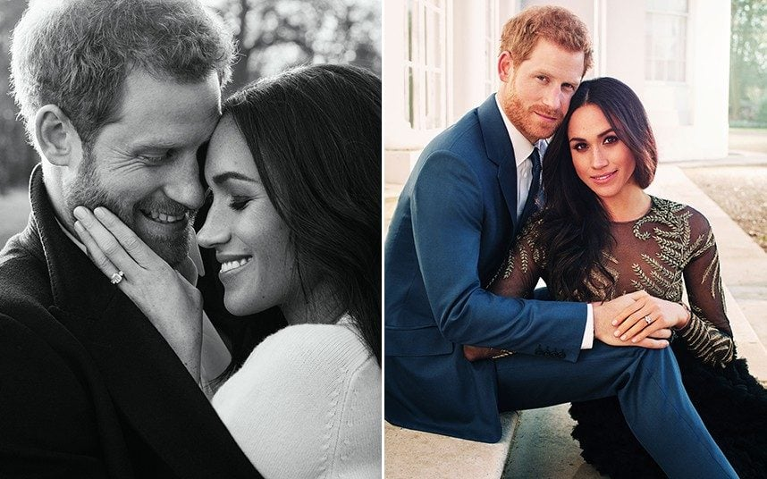 Prince Harry and Meghan Markle in their engagement photos