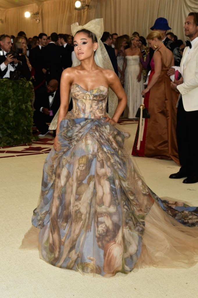 Ariana Grande in Vera Wang (Photo Courtesy of Shutterstock Images)