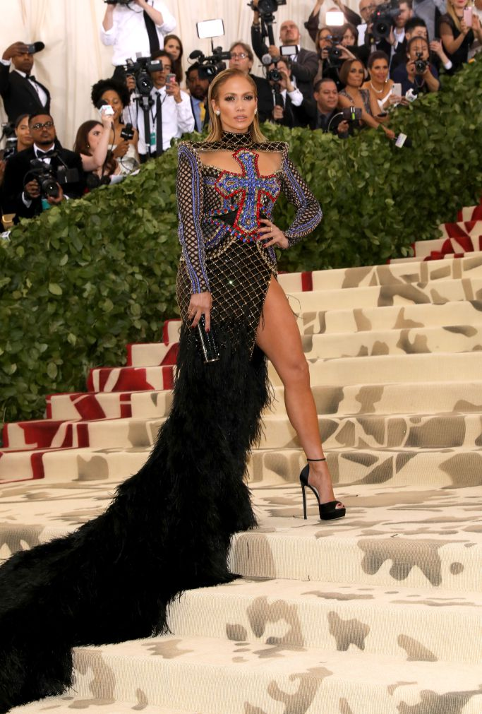 Jennifer Lopez in Balmain (Photo Courtesy of Shutterstock Images)