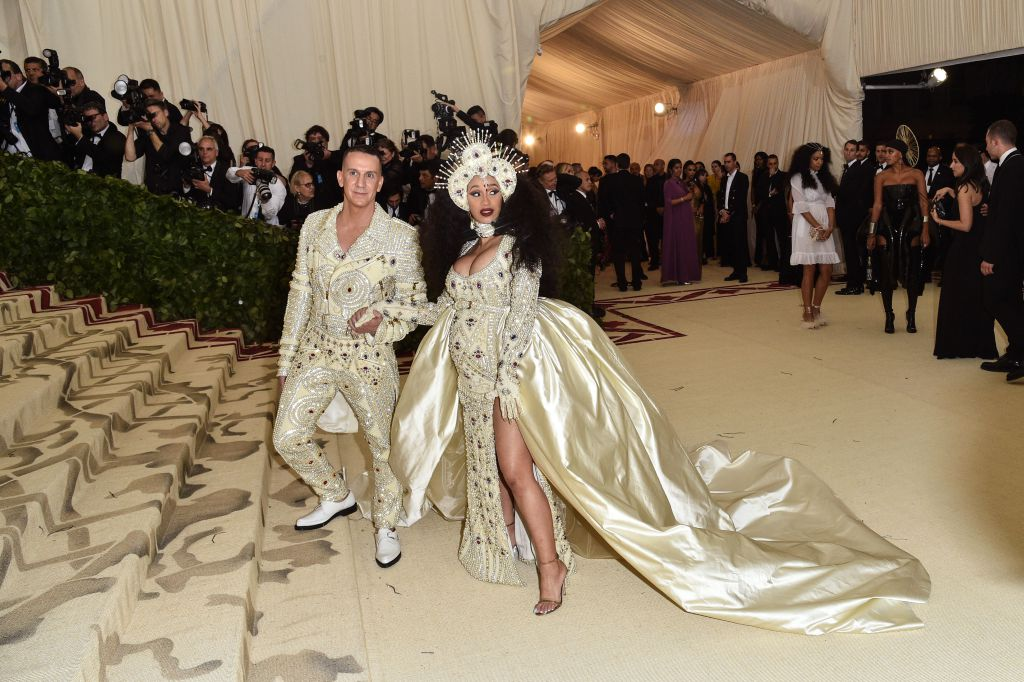 Jeremy Scott and Cardi B in Moschino (Photo Courtesy of Shutterstock Images)