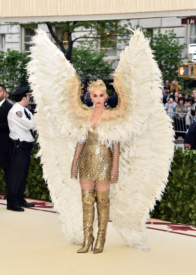 Katy Perry in Versace (Photo Courtesy of Shutterstock Images)