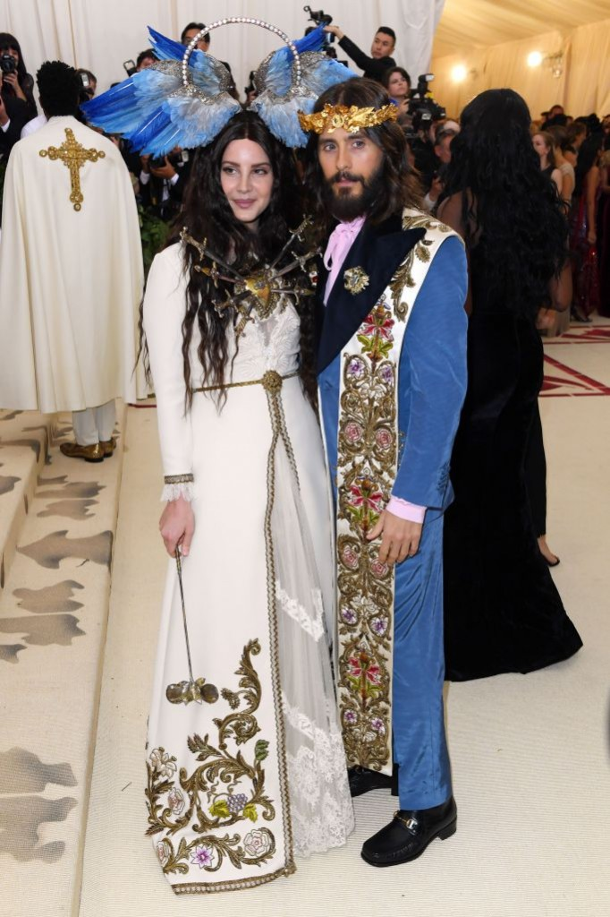 Lana del Ray and Jared Leto, both in Gucci (Photo Courtesy of Shutterstock Images)