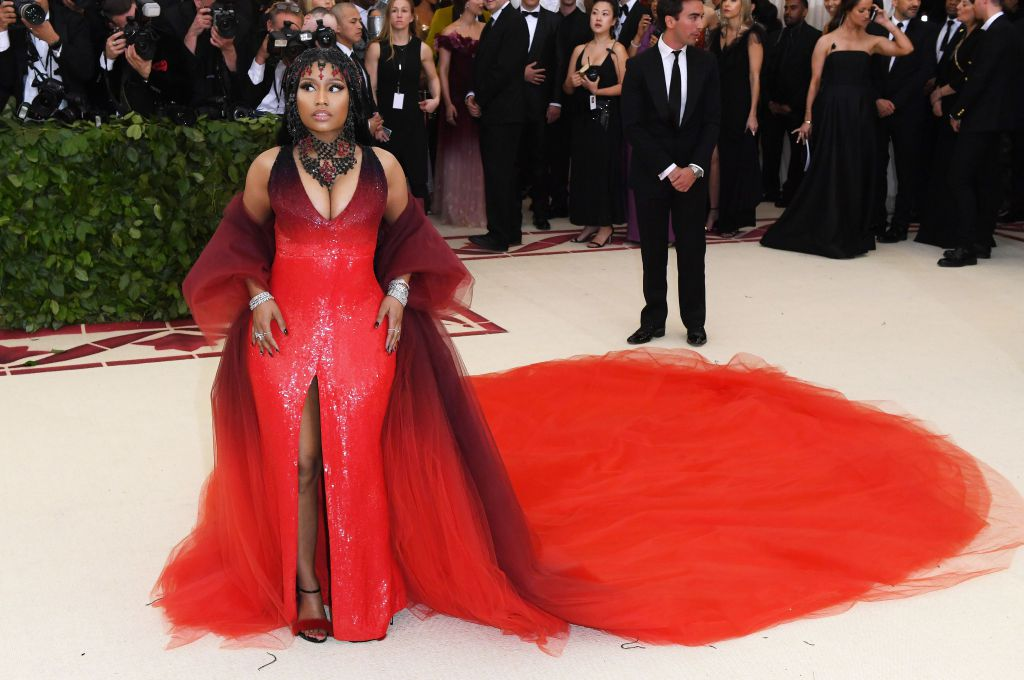 Nicki Minaj in Oscar de la Renta (Photo Courtesy of Shutterstock Images)