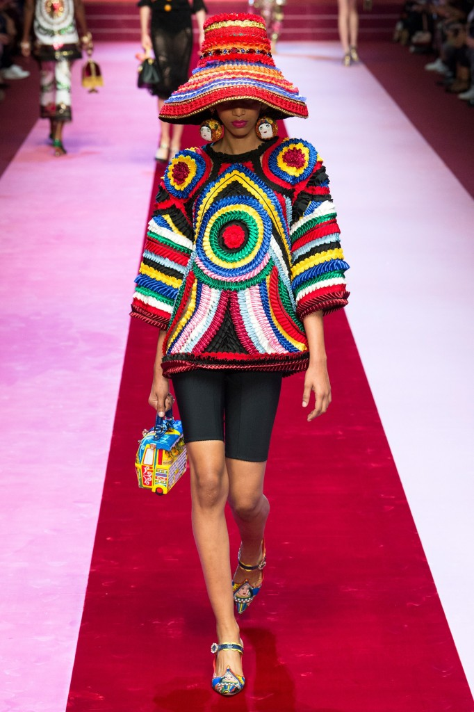 Dolce & Gabbana spring 2018 look (photo courtesy of Vogue.com)