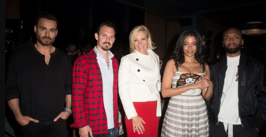 Mike Amiri, Kristopher Brock, Nadja Swarovski, Aurora James, and Kerby Jean-Raymond - Photo courtesy of WWD.com