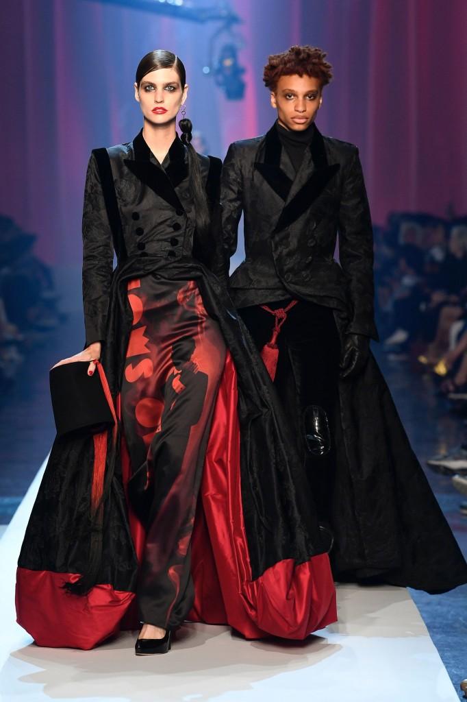 Jean Paul Gaultier Haute Couture Runway Look (photo courtesy of Vogue.com)