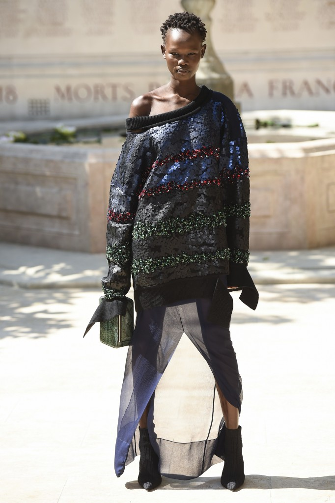 Sonia Rykiel Haute Couture Runway Look (photo courtesy of Vogue.com)