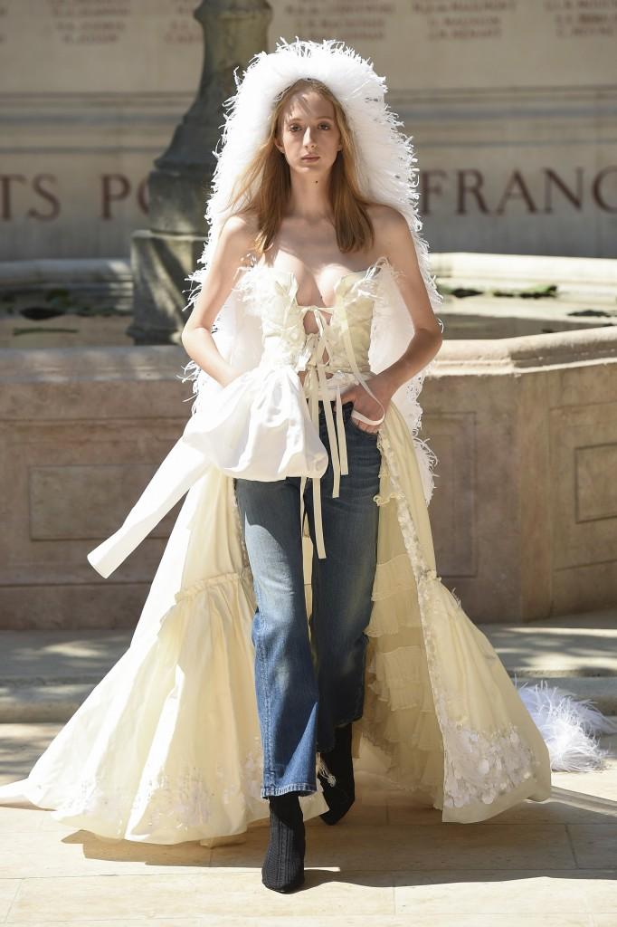 Sonia Rykiel Haute Couture Runway Look (photo courtesy of Vogue.com)