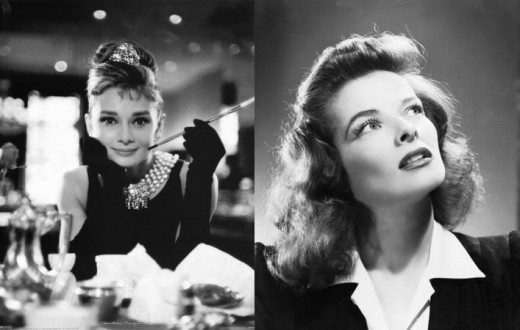 Audrey Hepburn and Katherine Kepburn ( Photo Courtesy of Movieboozer)