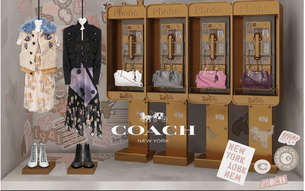 Coach window for Saks Fifth Avenue                                                                                         (Courtesy WWD August 17, 2018)