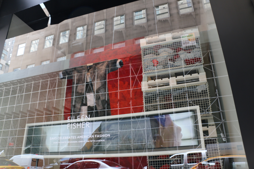Eileen Fisher window at Saks Fifth Ave   (Courtesy University of Fashion)