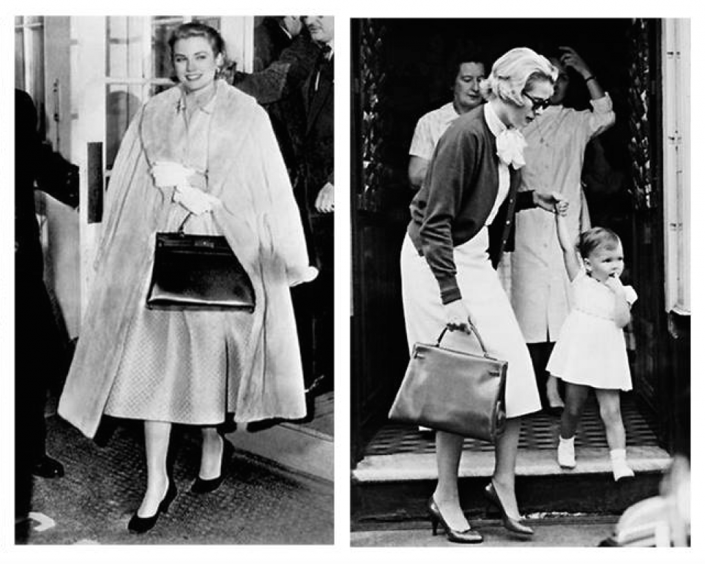 Princess Grace Kelly carrying the Hermes Kelly Bag (Photo Courtesy of Beyond Grace Kelly)