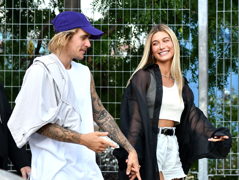 Justine Beiber and Hailey Baldwin attend John Elliott's spring 2019 show (Photo Courtesy of Hollywood Life)
