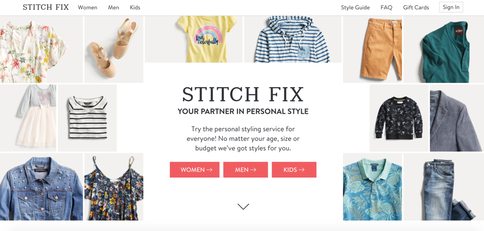 Stitch Fix – Using artificial intelligence (AI) algorithms to predict and reduce return rates (Courtesy Stitchfix.com)
